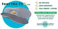 Earth Therapeutics Circuflo Odor Absorbing Arch Support Insoles - XL
