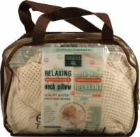 Earth Therapeutics - Earth Therapeutics Anti-Stress Unscented Neck Pillow-Tan Waffle