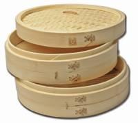 """Kitchen - Bamboo - Joyce Chen - Joyce Chen Bamboo Steamer 12"""" 3 pcs"""