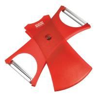 Utensils - Slicers & Corers - Kuhn Rikon - Kuhn Rikon Dual Peeler - Red