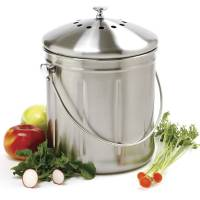 Garden - Composting Supplies - Norpro - Norpro Jumbo Stainless Steel Compost Keeper 1.5 gal
