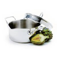 Bakeware & Cookware - Pots - Norpro - Norpro Krona Stainless Steel Vented Pot With Straining Lid 3 qt