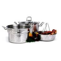 Bakeware & Cookware - Pots - Norpro - Norpro Krona Stainless Steel Steamer/Cooker Set 8 qt (Set of 4)