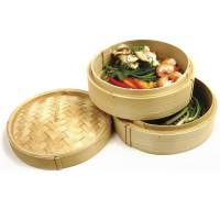 Kitchen - Bamboo - Norpro - Norpro 2 Tier Bamboo Steamer With Lid