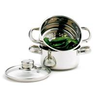 Bakeware & Cookware - Steamers - Norpro - Norpro Stainless Steel Steamer/Cooker 1 qt 3 pcs