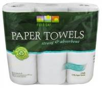 Recycled & Biodegradable - Recycled Paper - Field Day Products - Field Day Products Recycled Paper Towels 3 Rolls (10 Pack)