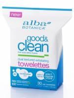 Health & Beauty - Skin Care - Alba Botanica - Alba Botanica Good & Clean Dual Texture Exfoliating Towelettes 30 ct