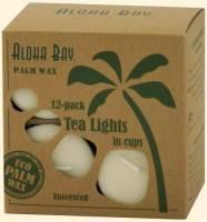 Home Products - Candles - Aloha Bay - Aloha Bay Tealight Unscented Eco-O White