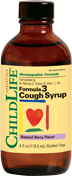Herbs - Childlife - Childlife Formula 3 Cough Syrup Natural Cherry