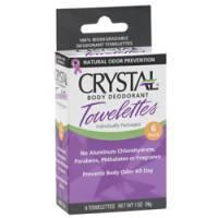 Health & Beauty - Deodorants - Crystal - Crystal Body Deodorant Towelettes - Unscented Box