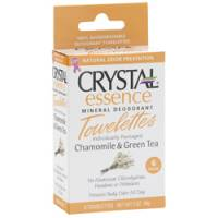 Health & Beauty - Deodorants - Crystal - Crystal Essence Mineral Deodorant Towelettes - Chamomile & Green Tea Box (6 Pack)