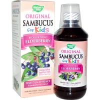Health & Beauty - Cough Syrup & Lozenges - Nature's Way - Nature Way Sambucus for Kids 8 oz