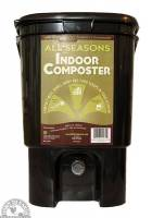 Garden - Composting Supplies - Down To Earth - All Seasons Indoor Composter Kit 1 Gallon - Black