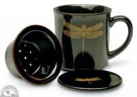 Kitchen - Tea - Down To Earth - Tea Mug 10 oz - Black Dragonfly