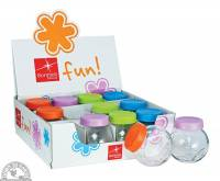 """Recycled & Biodegradable - Down To Earth - Bormioli Rocco Fun Spice Jars 3.25"""""""