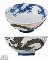 """Kitchen - Dishware - Down To Earth - Bowl 5.5"""" - White with Pearl Dragon"""
