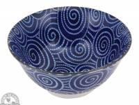 """Kitchen - Dishware - Down To Earth - Bowl 6"""" - Cobalt Spirals"""