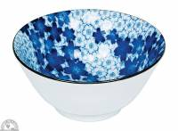 """Kitchen - Dishware - Down To Earth - Bowl 6"""" - Blue & White flowers"""