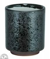 "Kitchen - Tea - Down To Earth - Ceramic Tea Cup 3.12"" - Black Metallic"