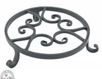 Garden - Yard & Patio - Down To Earth - Forged Iron Pot Trivet 8""