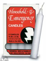 Candles - Paraffin Wax Candles - Down To Earth - Household & Emergency Candles (5 Pack)