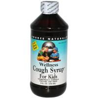 Health & Beauty - Cough Syrup & Lozenges - Source Naturals - Source Naturals Wellness Cough Syrup for Kids 8 oz