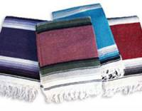 Barefoot Yoga Deluxe Mexican Yoga Blankets - Stripe