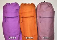 Yoga - Mats - Barefoot Yoga - Barefoot Yoga Duffel Style Cotton Canvas Yoga Mat Bag - Orchid