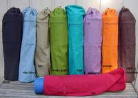 Yoga - Yoga Bags and Slings - Barefoot Yoga - Barefoot Yoga Duffel Style Cotton Canvas Yoga Mat Bag - Purple
