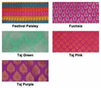 Yoga - Meditation - Barefoot Yoga - Barefoot Yoga Sari Pattern Zafu Meditation Cushion - Taj Pink