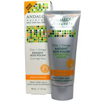 Skin Care - Cleansers - Andalou Naturals - Andalou Naturals Radiant Skin Polish Brightening Chai Plus Omega