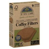 Kitchen - Compost Pails & Filters - If You Care - If You Care Brown Cone Coffee Filter #2 - 100ct.