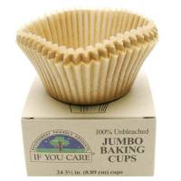 Recycled & Biodegradable - Recycled Paper - If You Care - If You Care Jumbo Baking Cups - 24ct.