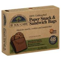 Kitchen - Bags & Containers - If You Care - If You Care Unbleached Paper Sandwich & Snack Bags - 48ct. (12 Pack)