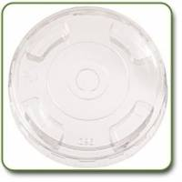 Recycled & Biodegradable - Recycled Paper - World Centric - World Centric 12-24 oz Straw Hole Clear Lids 100 ct