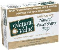 Home Products - Bags, Pouches & Boxes - Natural Value - Natural Value Waxed Paper Bags 60 ct (12 Pack)
