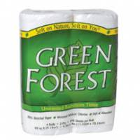 Home Products - Paper Products - Green Forest - Green Forest Bathroom Tissue, 2 Ply, 4 Rolls (24 Pack)