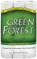 Home Products - Paper Products - Green Forest - Green Forest Bathroom Tissue, 2 Ply, 12 Rolls (8 Pack)