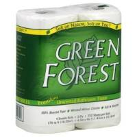 Home Products - Paper Products - Green Forest - Green Forest Double Roll Premium Bathroom Tissue, 2 Ply, 4 Rolls (12 Pack)
