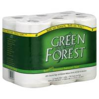 Home Products - Paper Products - Green Forest - Green Forest Double Roll Premium Bathroom Tissue, 2 Ply, 12 Rolls (4 Pack)