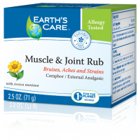 Health & Beauty - Pain Relief - Earth's Care - Earth's Care Earth's Care Muscle & Joint Rub 2.5 oz
