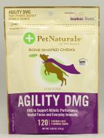 Pet Naturals Of Vermont Agility DMG Bone Shaped Chews for Dogs 120 chew