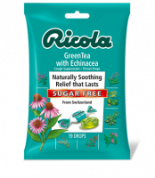 Health & Beauty - Cough Syrup & Lozenges - Ricola - Ricola Cough Drops Echinacea & Green Tea (Sugar Free) 3 oz
