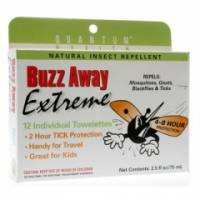 Health & Beauty - Insect Repellant - Quantum - Quantum Buzz Away Outdoor Protection Towelettes 12 ct