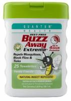 Health & Beauty - Insect Repellant - Quantum - Quantum Buzz Away Extreme Repellent Pop-Up Towelette Dispenser 25 ct