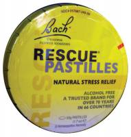 Specialty Sections - Gluten Free - Bach Flower Essences - Bach Flower Essences Rescue Remedy Pastilles Orange 50 gm
