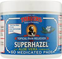 Skin Care - Facial Towelettes - Thayers - Thayers Witch Hazel Pads Medicated 60 pad