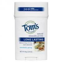 Tom's Of Maine LL Mens PGF Wide Stick Deodorant-Mountain Spring 24 Hour 2.25 oz