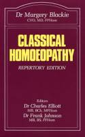 Books - Homeopathy - Books - Classical Homoeopathy - Dr. Margery Blackie
