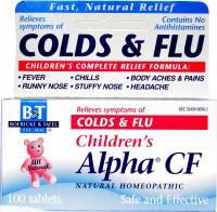 Homeopathy - Boericke & Tafel - Boericke & Tafel Children's Alpha CF Colds/Flu 100 tab